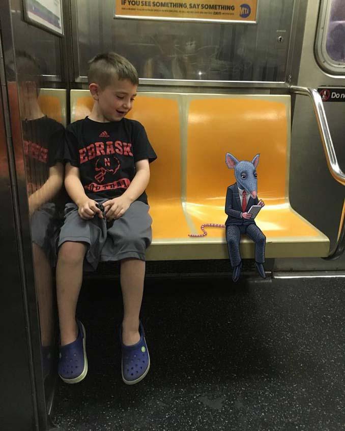 Σκιτσογράφος σχεδιάζει παράξενα τέρατα στη Νέα Υόρκη (18)