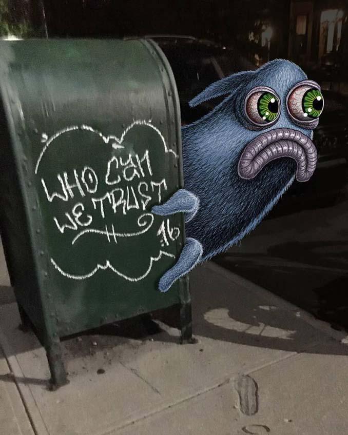 Σκιτσογράφος σχεδιάζει παράξενα τέρατα στη Νέα Υόρκη (24)