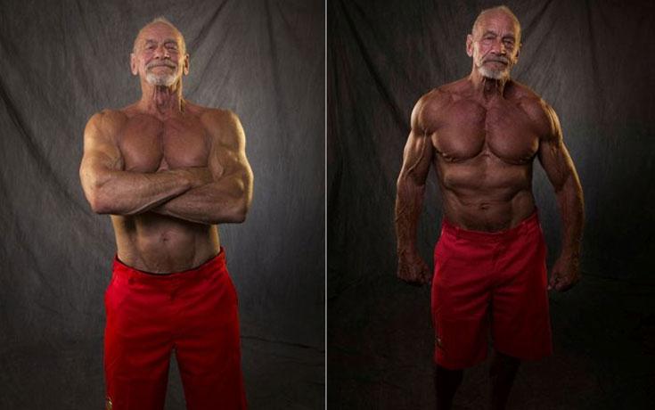 Το σώμα ενός bodybuilder σε ηλικία 40 ετών και 80 ετών (1)
