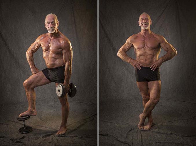 Το σώμα ενός bodybuilder σε ηλικία 40 ετών και 80 ετών (3)
