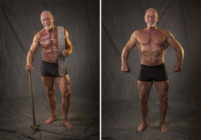 Το σώμα ενός bodybuilder σε ηλικία 40 ετών και 80 ετών (4)