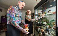 Συνταξιούχοι με ρεκόρ Guinness για τα περισσότερα τατουάζ (1)