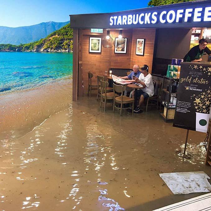 Άνδρας που διαβάζει ατάραχος εφημερίδα εν μέσω πλημμύρας, γίνεται αφορμή για ξεκαρδιστικό Photoshop Battle (2)