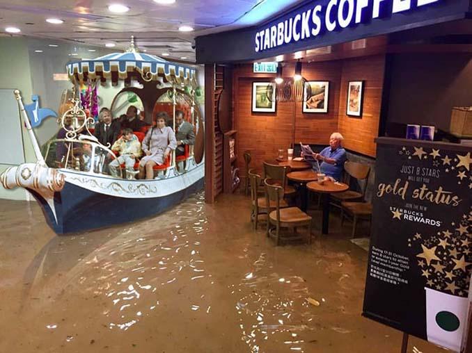 Άνδρας που διαβάζει ατάραχος εφημερίδα εν μέσω πλημμύρας, γίνεται αφορμή για ξεκαρδιστικό Photoshop Battle (20)