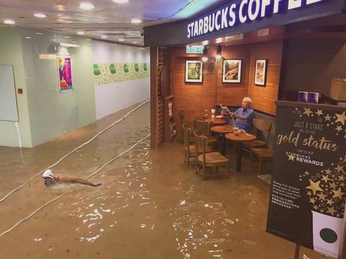 Άνδρας που διαβάζει ατάραχος εφημερίδα εν μέσω πλημμύρας, γίνεται αφορμή για ξεκαρδιστικό Photoshop Battle (24)