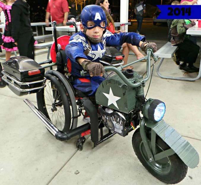 Δημιουργικός μπαμπάς φτιάχνει απίστευτες μεταμφιέσεις για τον γιο του που χρησιμοποιεί αναπηρικό αμαξίδιο (4)