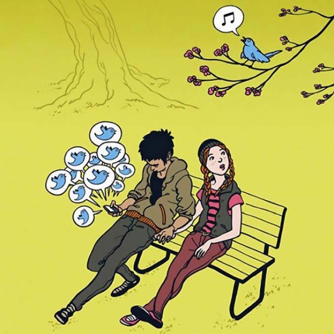 Εικόνες που δείχνουν πόσο έχουν επηρεάσει τα κινητά την ζωή μας (1)