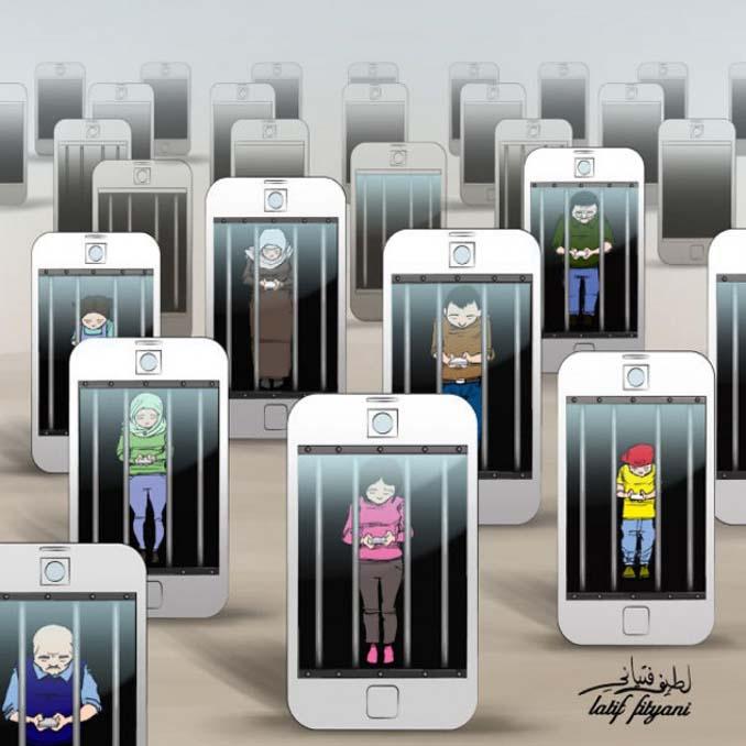 Εικόνες που δείχνουν πόσο έχουν επηρεάσει τα κινητά την ζωή μας (3)