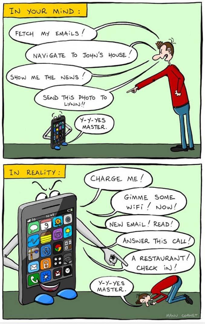 Εικόνες που δείχνουν πόσο έχουν επηρεάσει τα κινητά την ζωή μας (8)