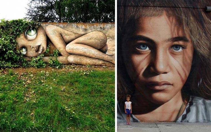 Εκπληκτικά έργα τέχνης του δρόμου που έχουμε δει τελευταία