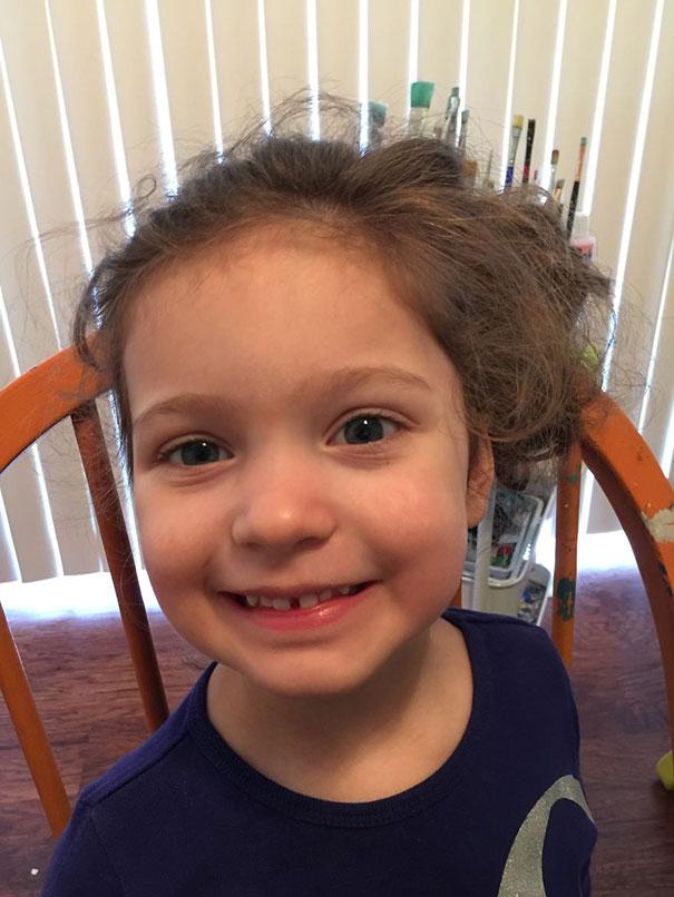 Καλλιτέχνιδα χρησιμοποιεί το μακιγιάζ για να μεταμορφώσει 3χρονο κοριτσάκι σε ηλικιωμένη (1)