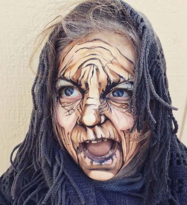 Καλλιτέχνιδα χρησιμοποιεί το μακιγιάζ για να μεταμορφώσει 3χρονο κοριτσάκι σε ηλικιωμένη (3)