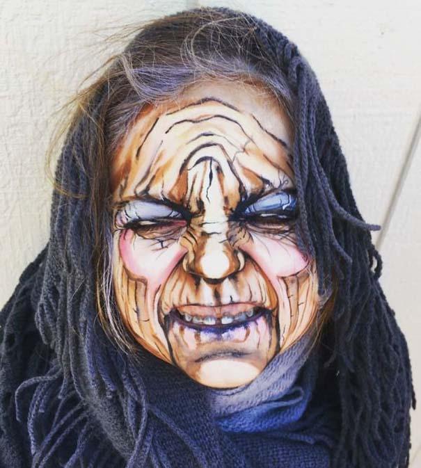 Καλλιτέχνιδα χρησιμοποιεί το μακιγιάζ για να μεταμορφώσει 3χρονο κοριτσάκι σε ηλικιωμένη (4)