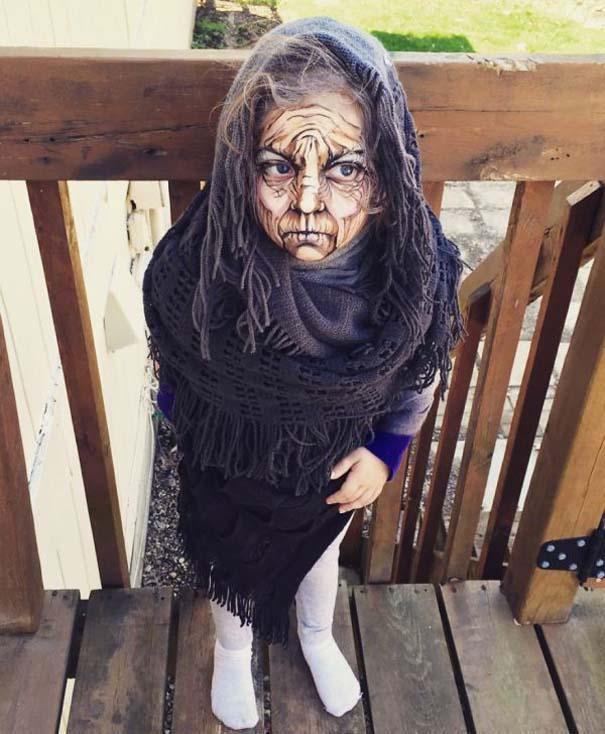 Καλλιτέχνιδα χρησιμοποιεί το μακιγιάζ για να μεταμορφώσει 3χρονο κοριτσάκι σε ηλικιωμένη (5)