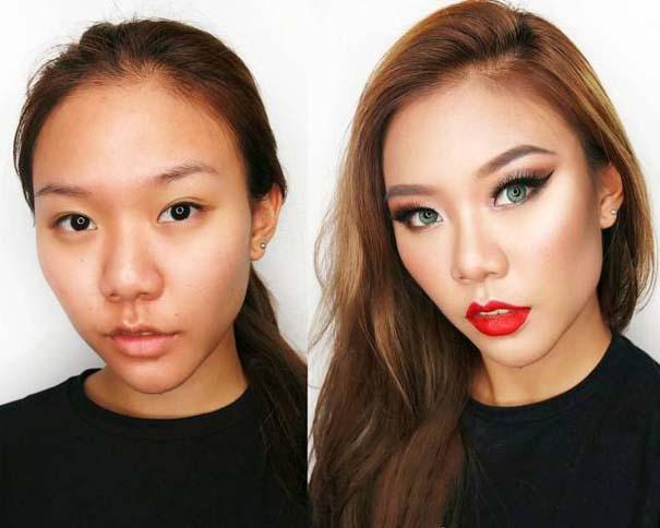 Μεταμορφώσεις μακιγιάζ που θα σας αφήσουν με το στόμα ανοιχτό (7)