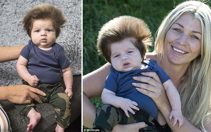 Μωρό 9 εβδομάδων με απίστευτο μαλλί (1)