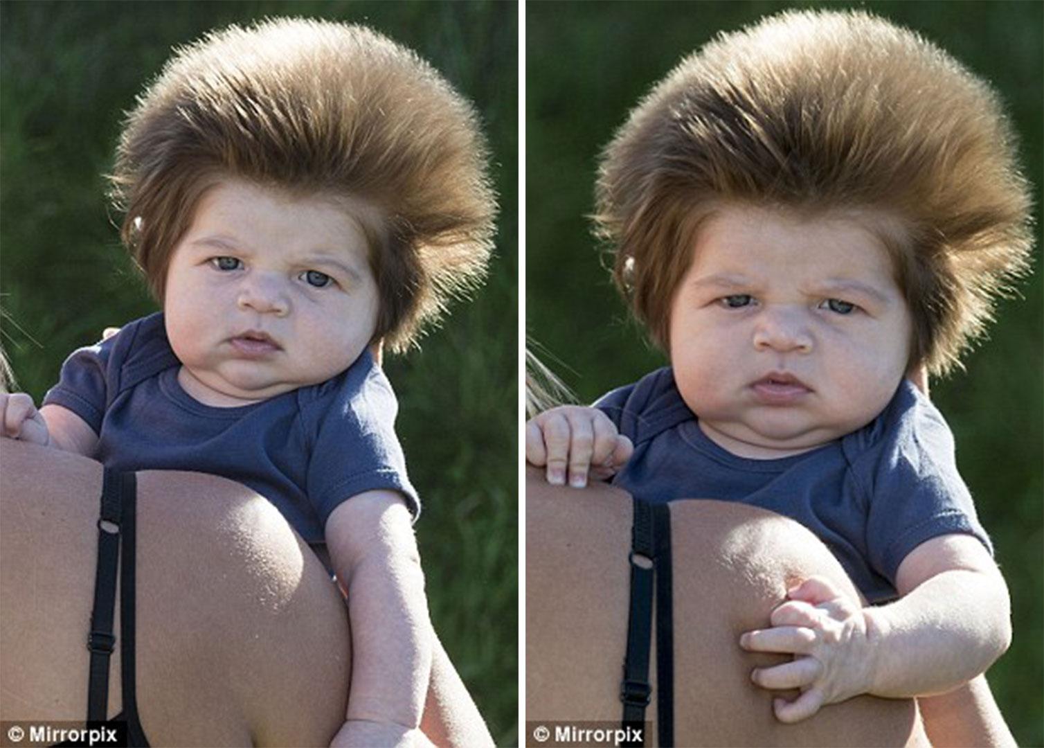 Μωρό 9 εβδομάδων με απίστευτο μαλλί (7)