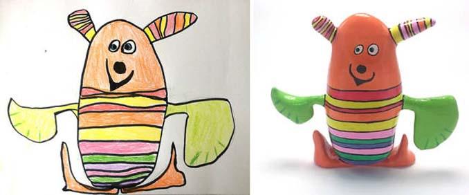 Παιδικές ζωγραφιές μετατρέπονται σε 3D παιχνίδια (2)