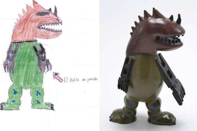 Παιδικές ζωγραφιές μετατρέπονται σε 3D παιχνίδια (3)