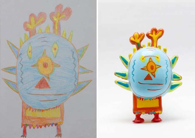 Παιδικές ζωγραφιές μετατρέπονται σε 3D παιχνίδια (5)