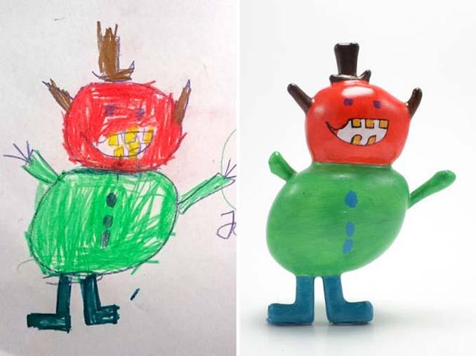 Παιδικές ζωγραφιές μετατρέπονται σε 3D παιχνίδια (7)