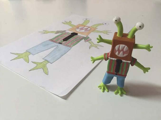 Παιδικές ζωγραφιές μετατρέπονται σε 3D παιχνίδια (19)