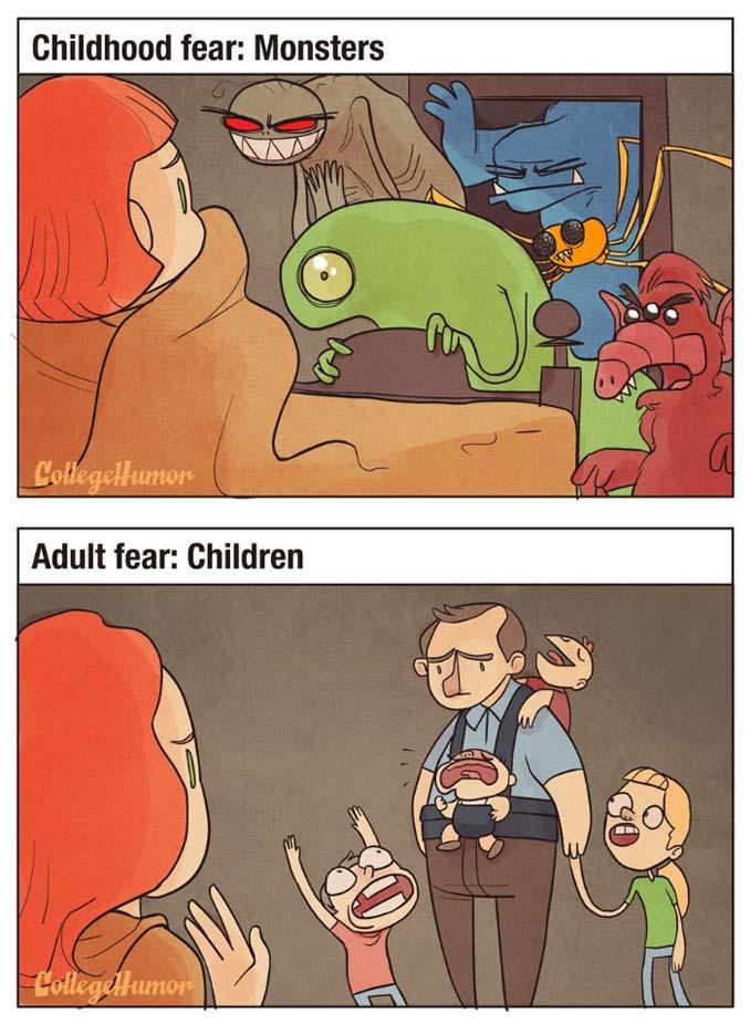 Παιδικοί φόβοι vs Φόβοι ενηλίκων (2)
