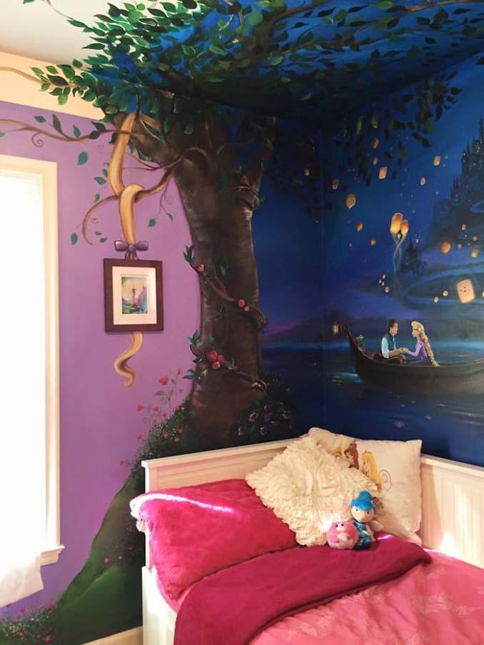 Πατέρας δημιούργησε μια εκπληκτική τοιχογραφία στο δωμάτιο της κόρης του (1)