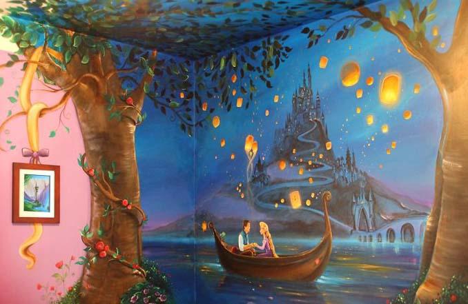 Πατέρας δημιούργησε μια εκπληκτική τοιχογραφία στο δωμάτιο της κόρης του (2)