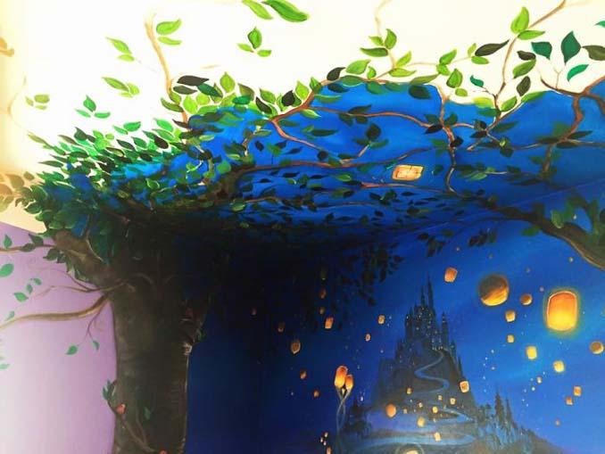 Πατέρας δημιούργησε μια εκπληκτική τοιχογραφία στο δωμάτιο της κόρης του (3)