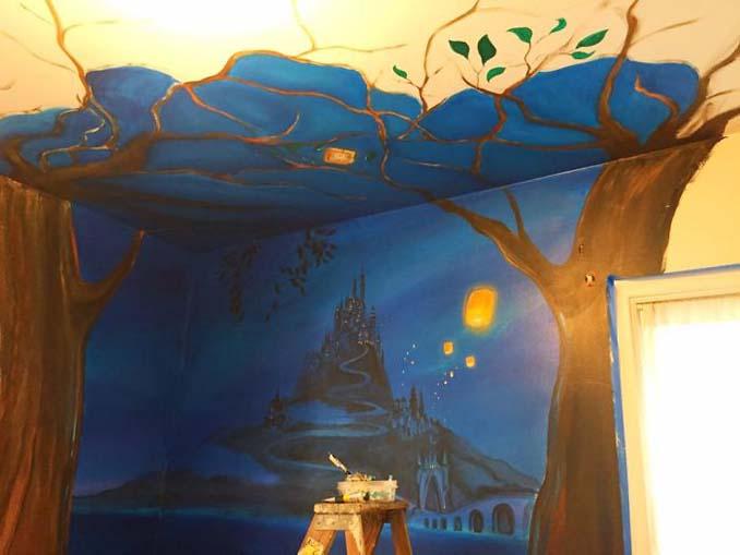 Πατέρας δημιούργησε μια εκπληκτική τοιχογραφία στο δωμάτιο της κόρης του (5)