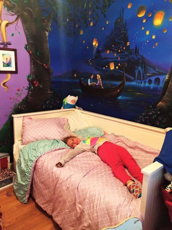 Πατέρας δημιούργησε μια εκπληκτική τοιχογραφία στο δωμάτιο της κόρης του (10)