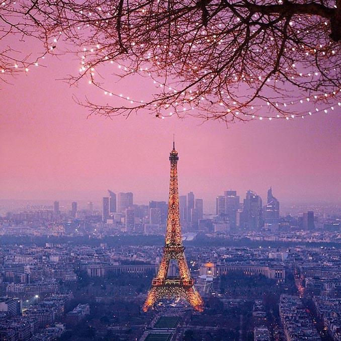 Εκπληκτικό ηλιοβασίλεμα στην Πόλη του Φωτός | Φωτογραφία της ημέρας