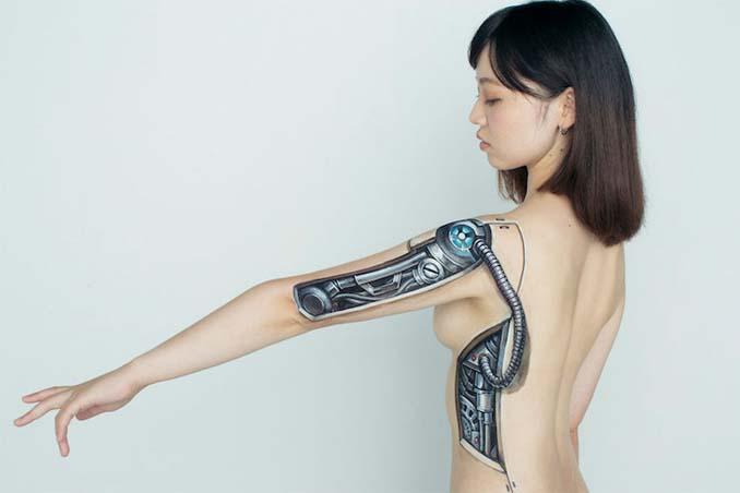 Ρεαλιστικές ζωγραφιές πάνω στο δέρμα μεταμορφώνουν το σώμα σε απίστευτες οφθαλμαπάτες (3)