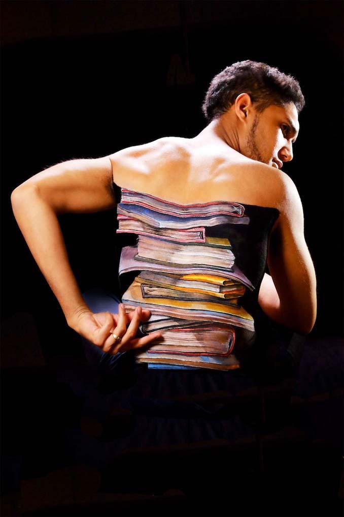 Ρεαλιστικές ζωγραφιές πάνω στο δέρμα μεταμορφώνουν το σώμα σε απίστευτες οφθαλμαπάτες (12)