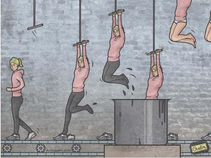 Σαρκαστικά σκίτσα που περιγράφουν την σημερινή κοινωνία (7)