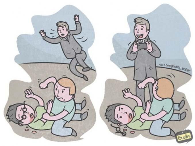 Σαρκαστικά σκίτσα που περιγράφουν την σημερινή κοινωνία (10)