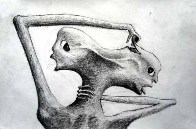 Σοκαριστικές ζωγραφιές από καλλιτέχνες που πάσχουν από σχιζοφρένεια (3)