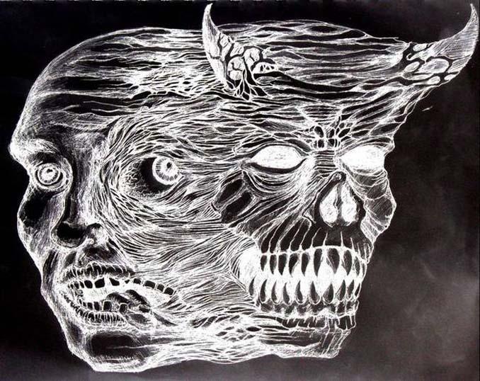 Σοκαριστικές ζωγραφιές από καλλιτέχνες που πάσχουν από σχιζοφρένεια (8)