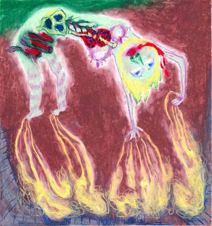 Σοκαριστικές ζωγραφιές από καλλιτέχνες που πάσχουν από σχιζοφρένεια (10)