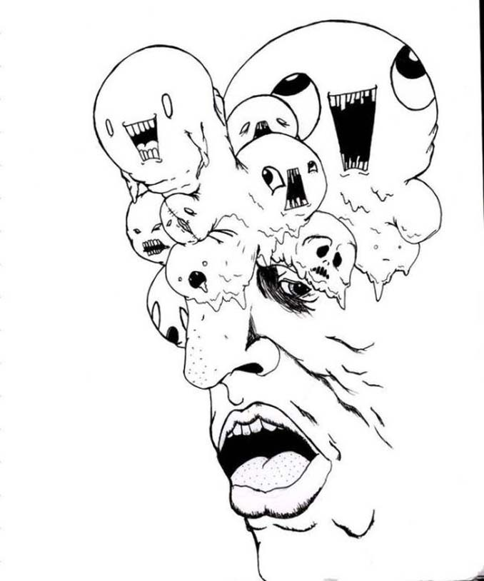 Σοκαριστικές ζωγραφιές από καλλιτέχνες που πάσχουν από σχιζοφρένεια (11)