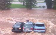 Τρομακτικό βίντεο δείχνει πόσο γρήγορα μια πλημμύρα μπορεί να ξεφύγει από κάθε έλεγχο