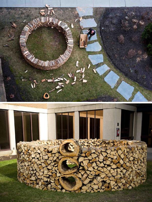 Άνθρωποι που μετέτρεψαν τις στοίβες ξύλων σε μορφή τέχνης (16)