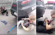 Αυτά συμβαίνουν όταν παίζεις με την εξάτμιση του αυτοκινήτου