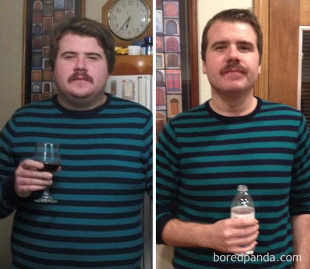 Φωτογραφίες πριν και μετά δείχνουν τι συμβαίνει όταν κόψεις το ποτό (9)