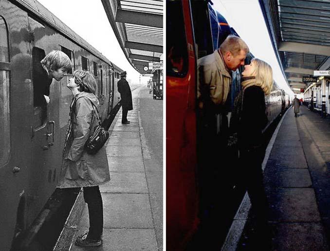 Επέστρεψε στην πόλη του για να φωτογραφίσει μετά από 40 χρόνια τους ίδιους ανθρώπους στην ίδια πόζα (1)