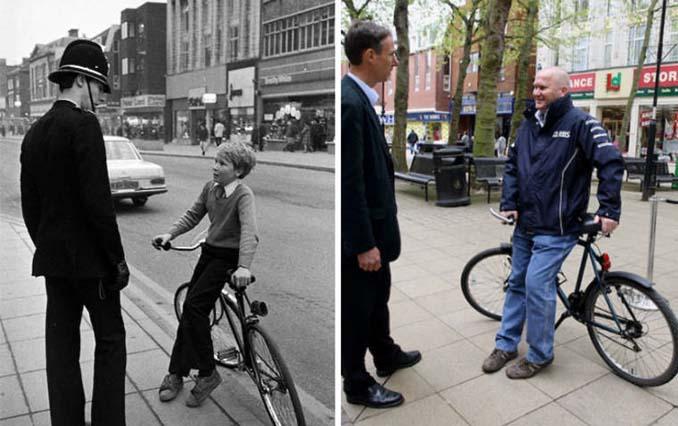 Επέστρεψε στην πόλη του για να φωτογραφίσει μετά από 40 χρόνια τους ίδιους ανθρώπους στην ίδια πόζα (2)