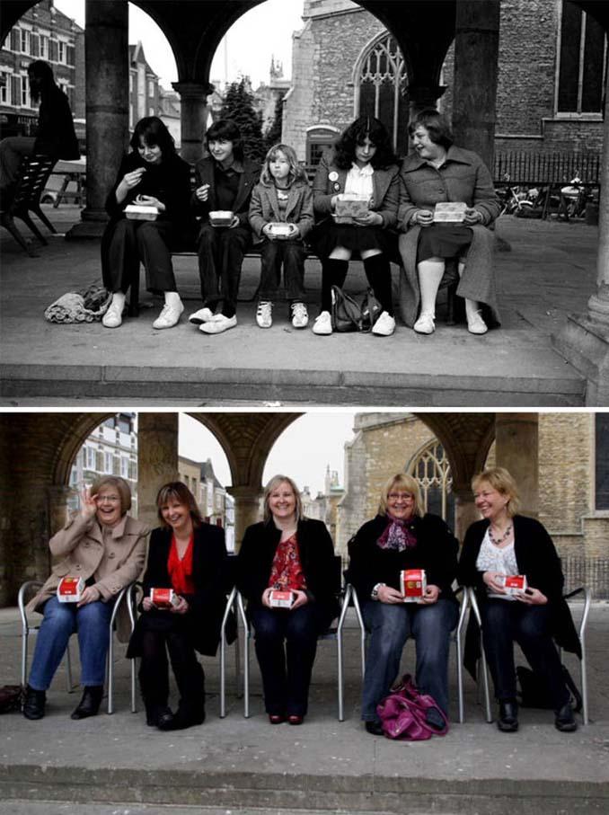 Επέστρεψε στην πόλη του για να φωτογραφίσει μετά από 40 χρόνια τους ίδιους ανθρώπους στην ίδια πόζα (3)