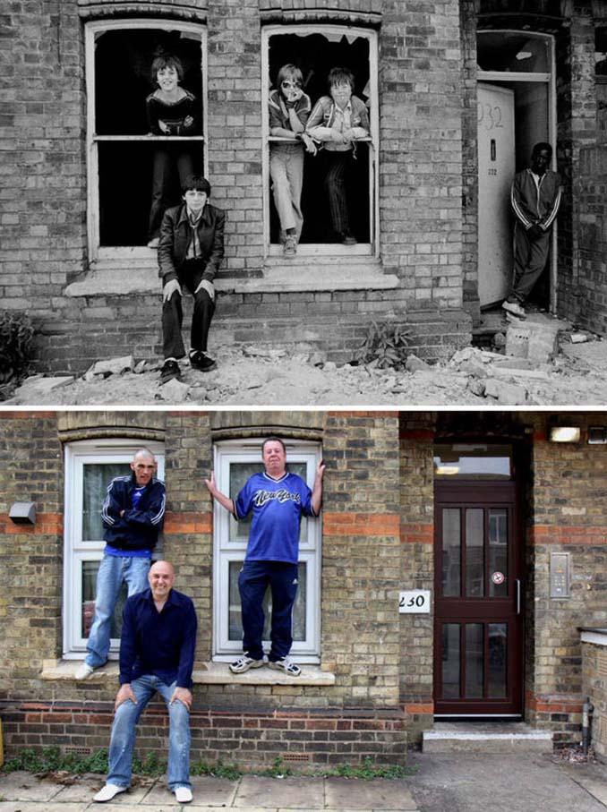 Επέστρεψε στην πόλη του για να φωτογραφίσει μετά από 40 χρόνια τους ίδιους ανθρώπους στην ίδια πόζα (6)