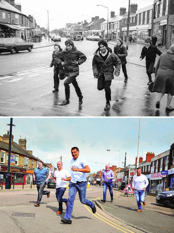 Επέστρεψε στην πόλη του για να φωτογραφίσει μετά από 40 χρόνια τους ίδιους ανθρώπους στην ίδια πόζα (8)